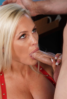 Alena Croft Deepthroats Huge Cock