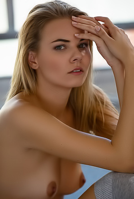 Hot And Shy Blond Model Kate Jones