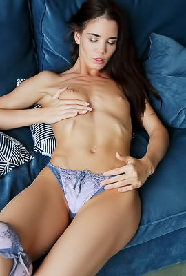 Russian Beauty Lovenia Lux Baring Her Perky Breasts