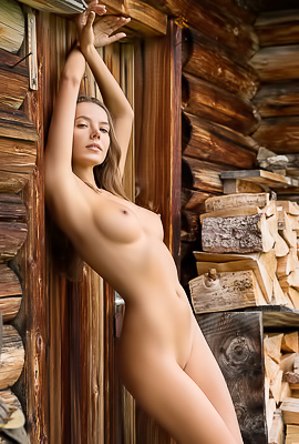 Skinny And Tall Girl Clover Posing Naked